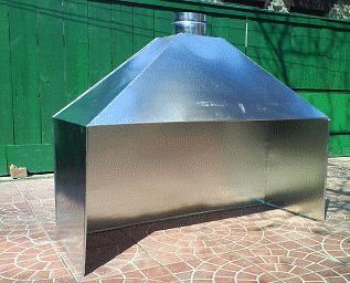прямоугольный дымоход для газового котла