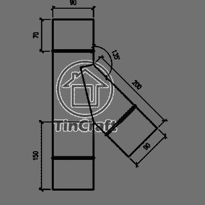 Размеры тройника 45