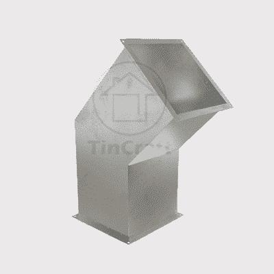Прямоугольный отвод 45