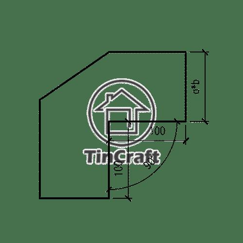 Размеры квадратного отвода