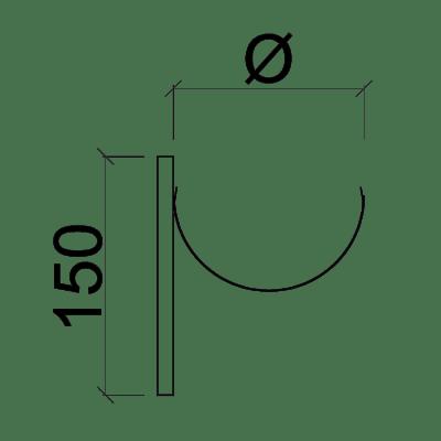 Крючок желоба короткий