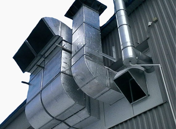 Прямоугольные воздуховодыиз оцинкованной стали