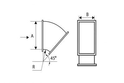 Отвод прямоугольный 45*